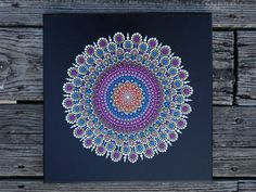 Mandala Dot Art Painting on Wrapped Canvas 12 by LaBellaArtigiana