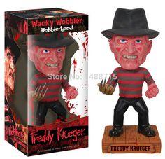 "Hot Classic Horror Film A Nightmare On Elm Street Freddy Krueger Funko Wacky Wobbler Bobble Head 7"" Figure Toys New Box"