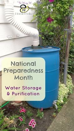 Water Storage and Purification National Preparedness Month In case you didn't catch it, September is National Preparedness Month! This is a month designated by the Federal Emergency Management Agency (FEMA) through the Department of … Continue Reading → Disaster Preparedness, Survival Prepping, Survival Skills, Survival Stuff, Bushcraft, National Preparedness Month, Federal Emergency Management Agency, Emergency Preparation, Emergency Planning