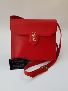 cac038b5ddfa YSL Bag. Yves Saint Laurent Vintage Red Leather Shoulder Bag . French designer  purse.  reddesignerpurse