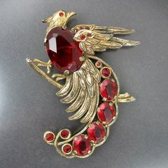 Bird of Paradise Art Deco Brooch