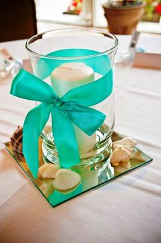 Teal Wedding Centerpiece Decorations