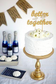Wedding cake topper by Better Off Wed on Etsy #caketopper #wedding #cake