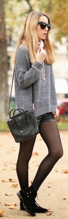 #street #style gray knit @wachabuy