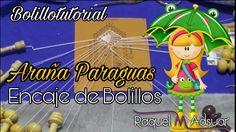 Araña Paraguas de Encaje. 2 Modelos. Bolillotutorial Raquel M. Adsuar