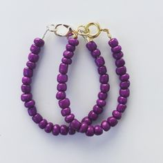 A personal favorite from my Etsy shop https://www.etsy.com/listing/248669488/purple-chunky-bracelet