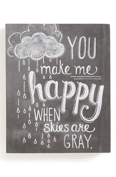 You make me happy...