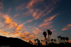 Palm Springs sunset by Derek Tacconelli