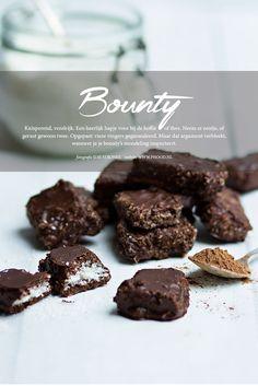 Zelf gezonde bounty maken. Lekker knapperig, met de volle smaak van chocola!