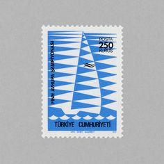 European Finn Class Sailing Championships. Turkey, 1977. Design: N. M. Gür