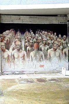 """Paris 13 - 11 quai Austerlitz - street art - borondo """"against"""""""