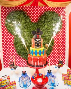 """""""The perfect shot by the oh so talented @alanphillip Circus Mickey inspired party styled by Laila from @oneinspiredparty for Isla's 2nd birthday…"""""""