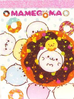 Mamegoma baby seals mini Memo Pad big donut