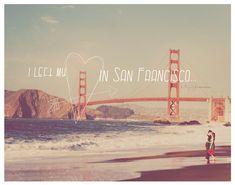 quote, love, San Francisco, Golden Gate Bridge, red heart art print, California, travel photography, romantic, typography, gift under 30