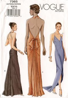 bias cut gown pattern - Google Search
