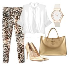 """""""Animal Print"""" by claudia-perales-del-solar on Polyvore featuring Longchamp and Gianvito Rossi"""