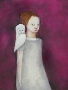 New on the website: beautifully painted characters from a pale place by Kat Hannah | ArtisticMoods.com