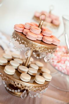Dessert station with macaroons