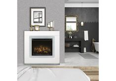 Lacks | Lukas 2-Pc Fireplace Twin Bedroom Sets, Queen Bedroom, Kids Bedroom, Mattress Sets, Queen Mattress, Office Set, Electric Fireplace, Dining Room Sets, Outdoor Fire