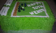 lawn bowls cake for wendy's birthday Opt for your backyard occasion topic as well