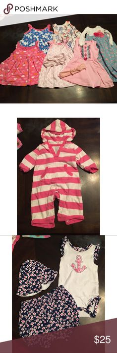 0-3 Month Bundle! Look inside for more! Dresses, Onesie outfit, & hoodie one piece. All in great condition! Gerber, Carters, & old navy.           -------------------------- 🛒Check out my other 200+ listings! -------------------------- 🛍Bundle 3+ items for a discount! -------------------------- 🚭Non smoking home  -------------------------- 🐶Pet friendly home (pets kept away from clothes) Carter's Dresses