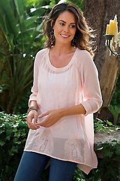 Francoise Top Ii - Chiffon Top, Embellished Top   Soft Surroundings