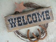 Barbed Wire welcome wreath