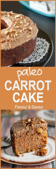 Crowd-Pleaser Paleo Carrot Cake with Maple Pecan Glaze. Fabulous! You won't be disappointed.  www.flavourandsavour.com