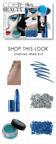 Blu integral. by hacii on Polyvore featuring bellezza, Medusa's Makeup, Lipstick Queen, Burberry, Urban Decay, Anja, Blue, makeup and coolbeauty