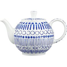 October Teapot by Jenny Bowers in 50th Anniversary Teapots | Crate and Barrel