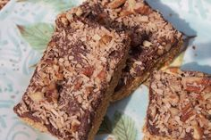 Fudge Topped Chai Bars {Vegan, Gluten-Free}