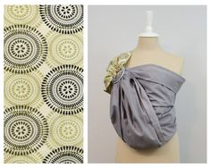 Market Baby Ring Sling Grey / Blue / Purple by iHEARTees on Etsy