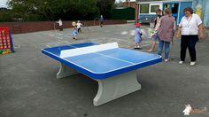 Pingpongtafel Afgerond Blauw bij Etwall Primary School in Etwall Derby