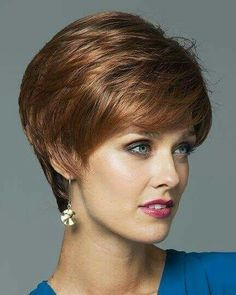 Megan by Noriko Wigs - Rene of Paris Short Hair Wigs, Human Hair Wigs, Short Hair Styles, Short Layered Haircuts, Bob Haircuts, Wigs Online, Cheap Human Hair, Short Hair Cuts For Women, Pixie Haircut