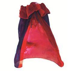 Sarah's Silks omkeerbare cape koningsblauw/rood