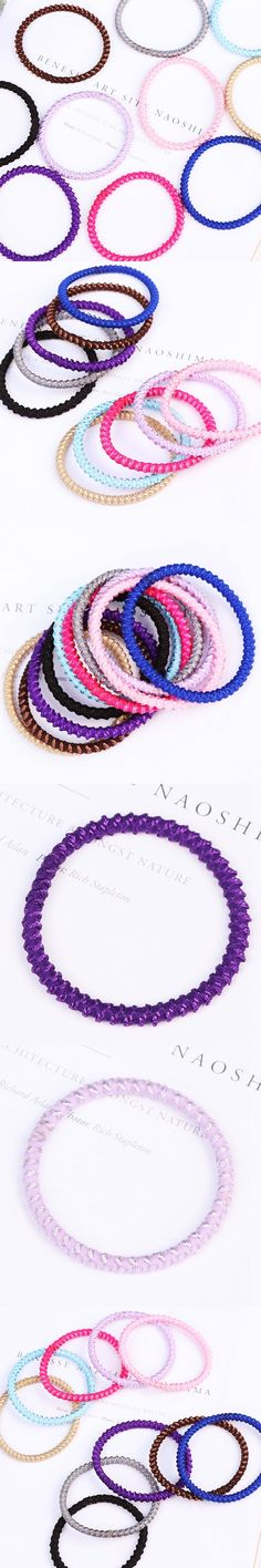 2017 New Arrival High Quality Women Hair Accessories Fashion Knitted Girls Elastic Hair Bands Colorful Rubber Bands Hair Ropes