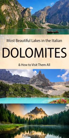 13 Most Beautiful Lakes in the Dolomites (+ Map & How to Visit) Three Lakes, Mountain Images, Beautiful Waterfalls, Best Hikes, Day Trip, Cool Places To Visit, Adventure Travel, Scenery, Northern Italy