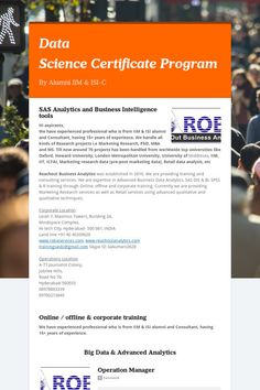 Data ScienceCertificateProgram
