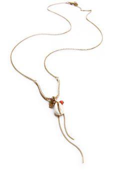 """Necklace coris """"SUNSET"""" + shell by linapoum - shop in paris"""