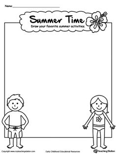 **FREE** Drawing Summer Activities Printable Worksheet Worksheet. Explore your child's creativity with this fun summer activity drawing worksheet.