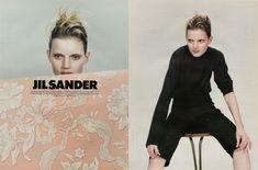 jil sander, craig mcdean, 1996, 90's, guinevere van seenus, fashion advertising