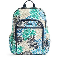 Vera Bradley Santiago Campus Tech Backpack ( 108) ❤ liked on Polyvore  featuring bags, f75ce47a19
