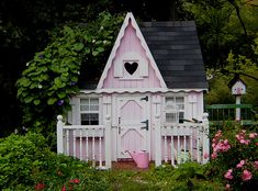 "Pink Fairy Cottage ~   ""DH and I added this to liven up our English Cottage Garden here in Wilmington, MA. It actually made its debut in two magazines this fall. Both magazines by Harris Publications, Flower Gardens and Small Room Decorating."" ~ by Treasured Heirlooms (Cathy Scalise)"