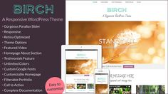 Excited to announce that my latest #WordPress #theme is now available. Birch has so many great features, but I'm pretty thrilled about the Featured Videos. There's also a Homepage Bio, Parallax Slider, Testimonials, and more. Plus it's easy to customize and has complete documentation.