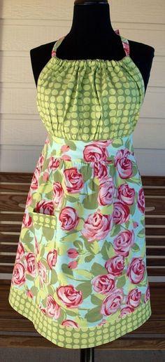 need a good (free) apron pattern - Page 2 - BabyCenter Retro Apron Patterns, Vintage Apron Pattern, Apron Pattern Free, Aprons Vintage, Sewing Patterns, Dress Patterns, Sewing Aprons, Sewing Clothes, Apron Tutorial
