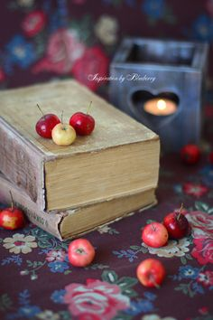 Crabapples and old books. Bring on the little cool bites of autumn!
