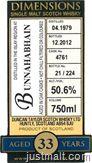 Bunnahabhain 33 Year, Bunnahabhain 21 Year, Bruichladdich 10 Year, Royal Brackla 13 Year - Duncan Taylor Dimensions Single Malt Scotch Whiskies