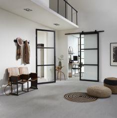 Skantrae SlimSeries Zwarte Binnendeur SSL 4023 Village Houses, Minimalist Interior, Interior Design Inspiration, Interior Styling, Door Handles, Sweet Home, New Homes, Home And Garden, Living Room