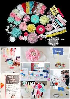 Hair Accessories 18786: Baby Shower Headband Kit - Deluxe Diy Hair-Bow And Headband Kit - Handmade - Girl -> BUY IT NOW ONLY: $37.99 on eBay!