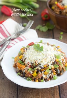 {Slow Cooker} Quinoa Tex Mex